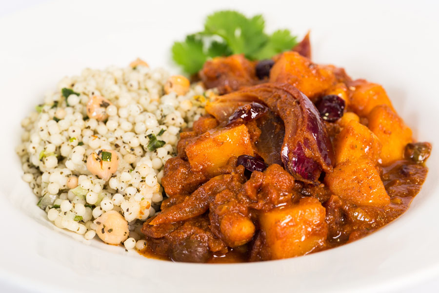Butternut Squash, Cranberry & Red Onion Tagine